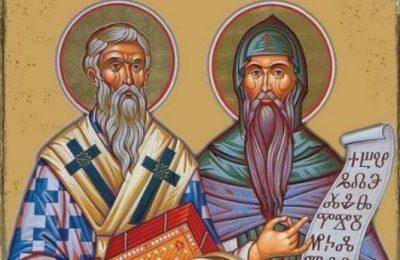 Създаване на славянската писменост и книжовност. Делото на солунските братя Константин-Кирил Философ и Методий.